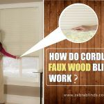 How Do Cordless Faux Wood Blinds Work?