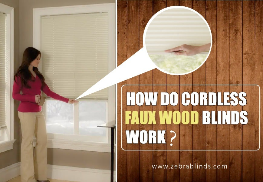 white faux wood blinds how do cordless faux wood blinds work. Black Bedroom Furniture Sets. Home Design Ideas
