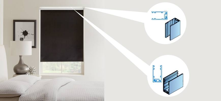 Roller Shades With Side And Sill Channels