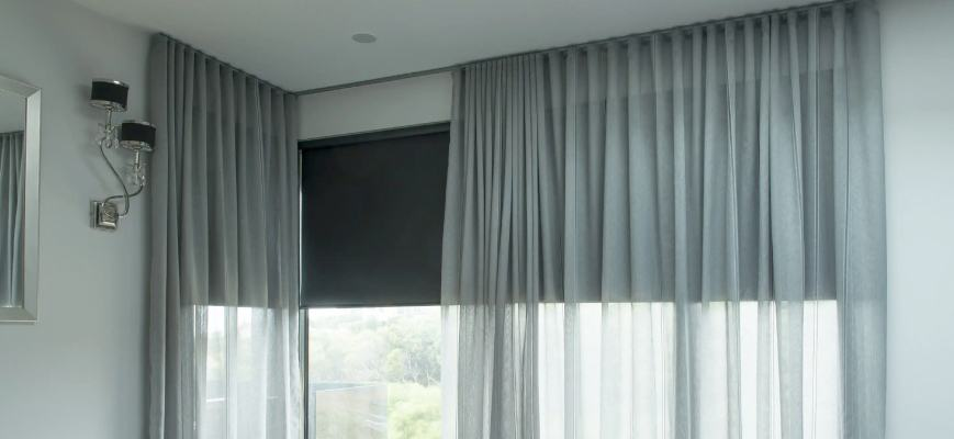 Sheer Curtains with Light Blocking Blinds