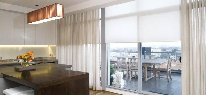 Curtains with Roller Blinds
