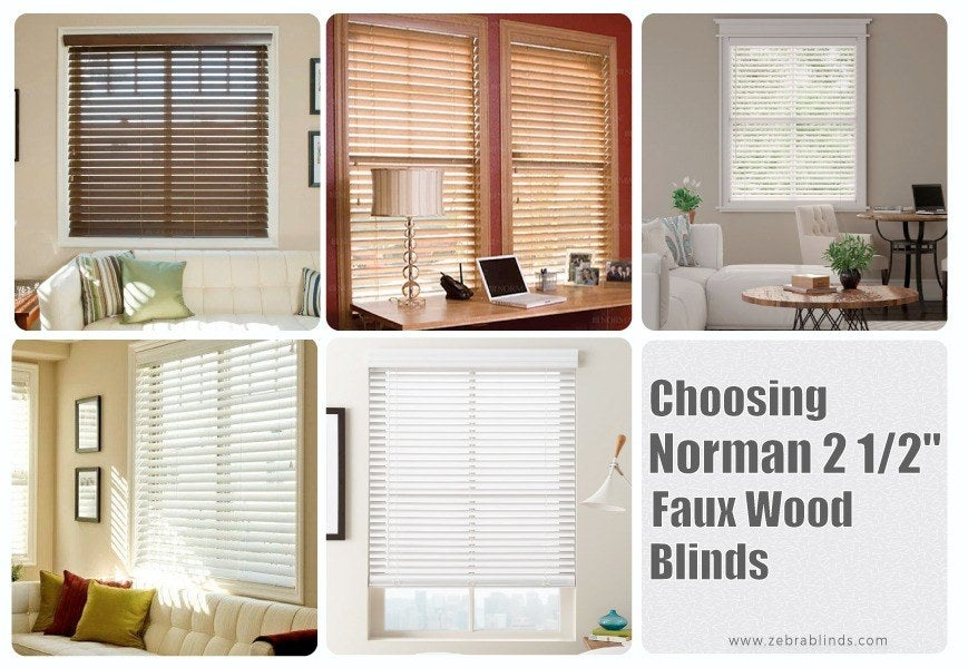Norman Window Fashions- Norman Faux Wood Blinds