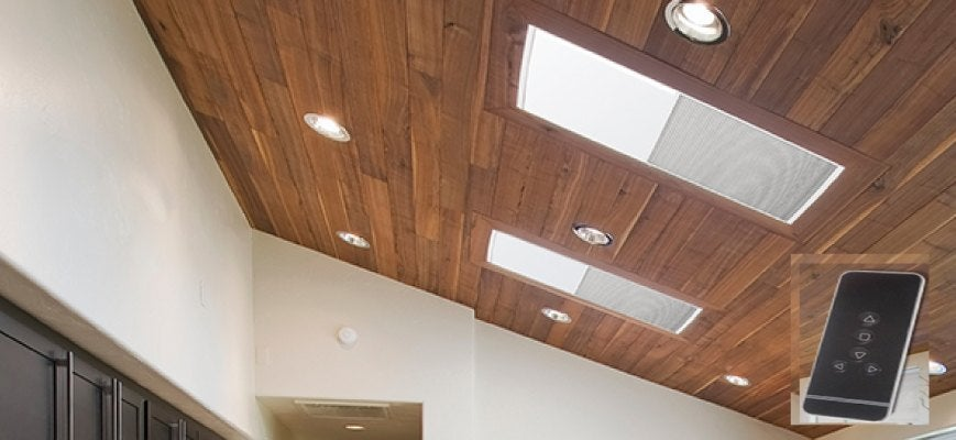 Crown Motorized Skylight Cellular Shades