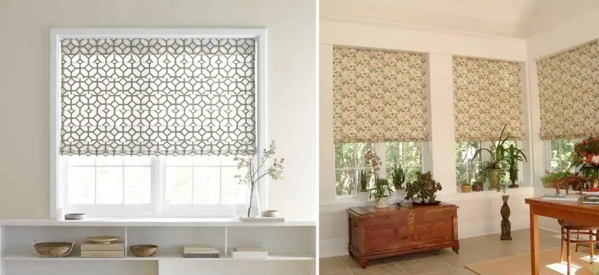 Light Filtering Fabric Roman Window Shades