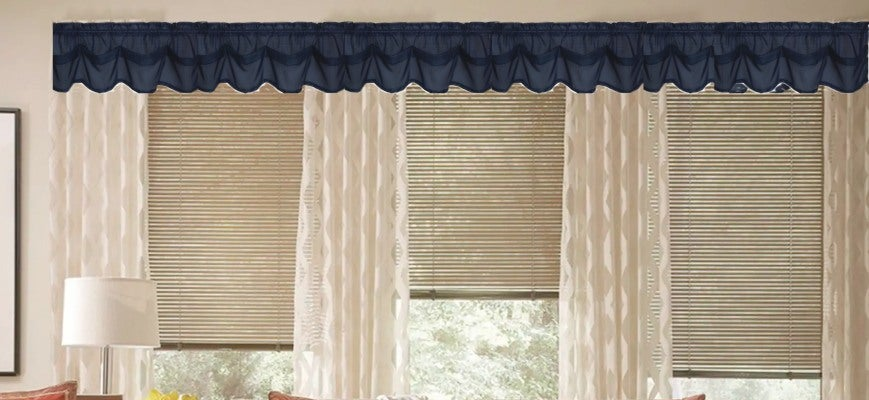 Pleated Shades with Drapery