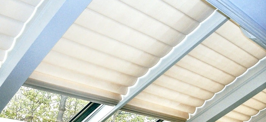 Solar Powered Skylight Blinds