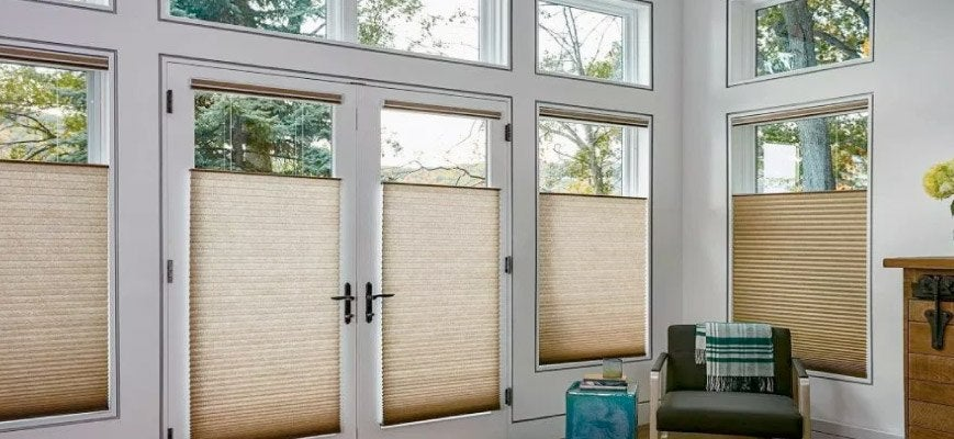 Cellular Shades for Sliding Glass Doors