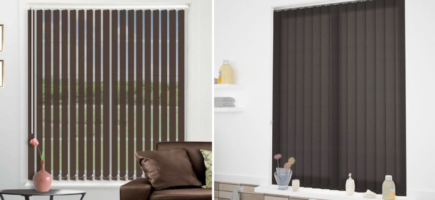 Chocolate Vertical Blinds