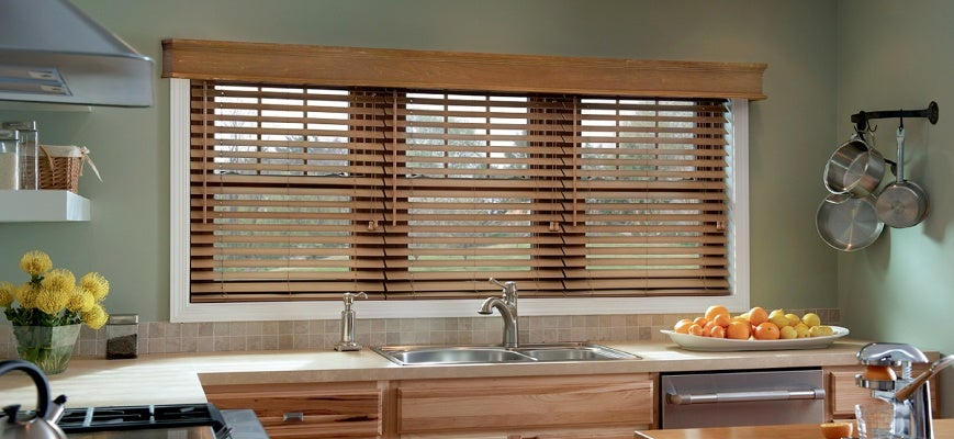 Faux Wood Blinds for Kitchen
