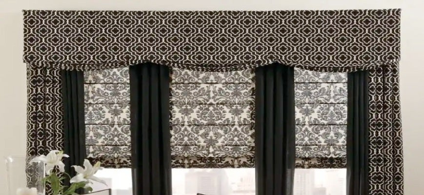 Printed Valances with Curtains