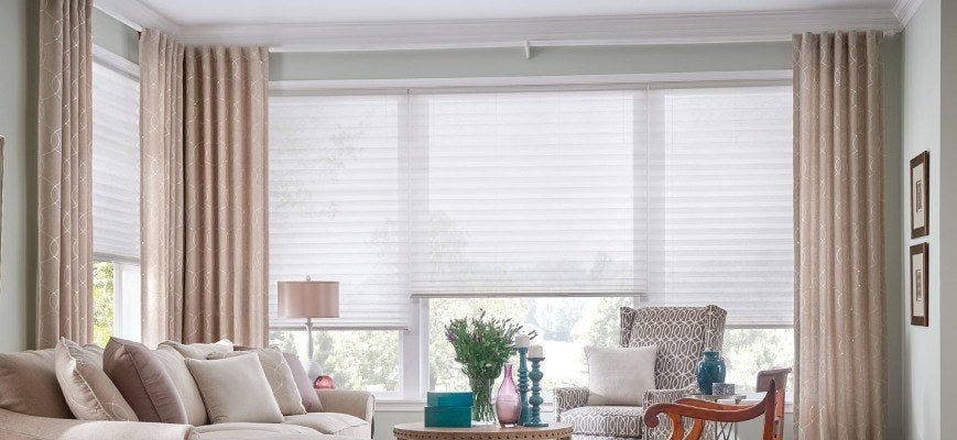 Curtains Over Cellular Window Shades