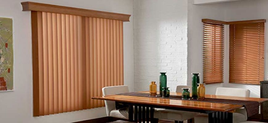 Faux Wood Blinds with Valances