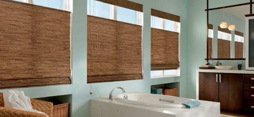 Woven Wood Blinds for Bathrooms