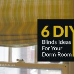 6 DIY Blinds Ideas For Your Dorm Room