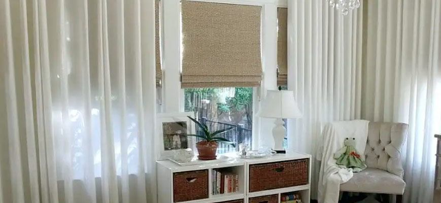 Curtains With Matching Roman Blinds Different Ways