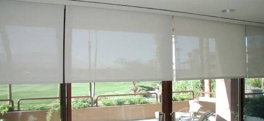 Outdoor Motorized Solar Shades