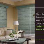 Blend Easy Functionality with a Dynamic Look Using Graber Fabric Roman Shades