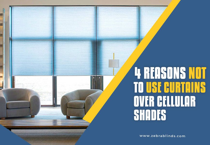 Cellular Shades with Curtains