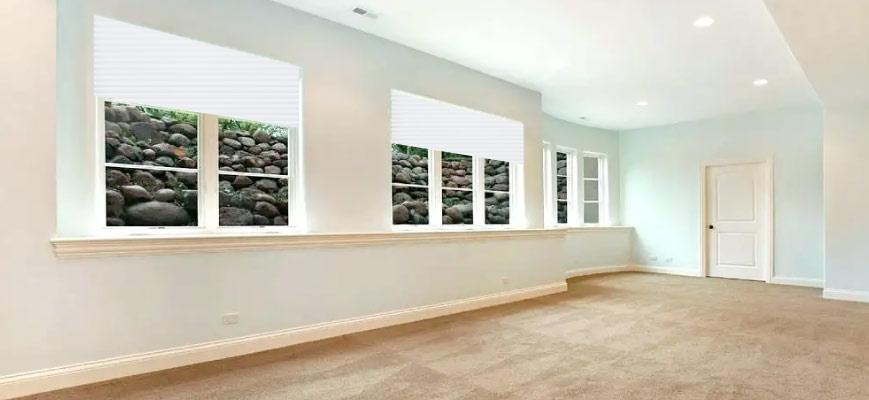 Cellular Shades for Basements
