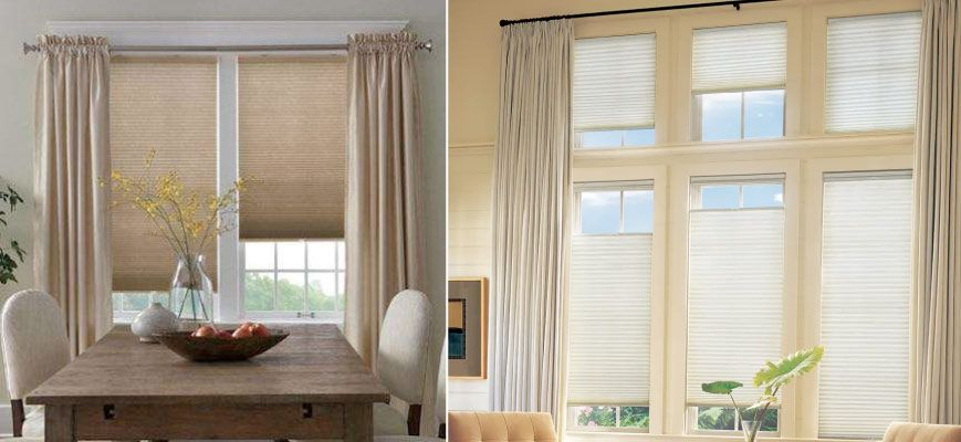 Sheer Curtains Over Cellular Shades