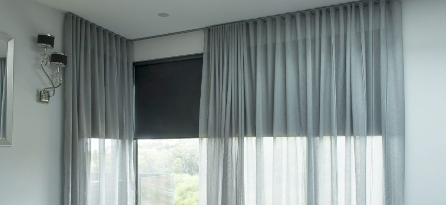 Sheer Curtains Over Roller Blinds