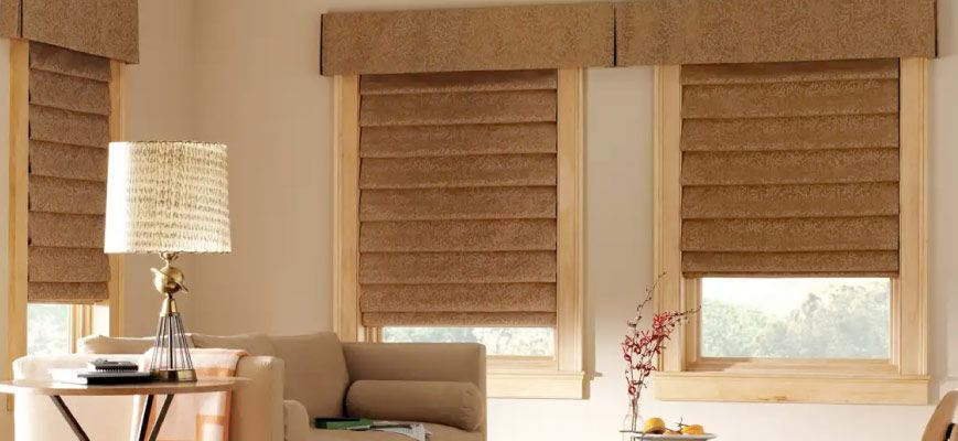 Cornices with Roman Shades
