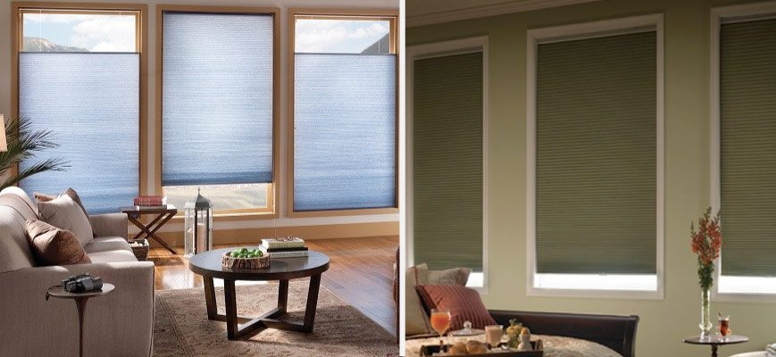 Crown Light Filtering and Blackout Cellular Shades