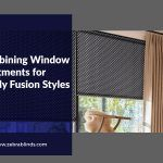 Combining Window Treatments for Trendy Fusion Styles