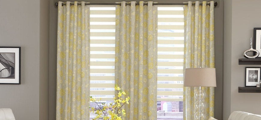 Zebra Blinds with Sheer Curtains