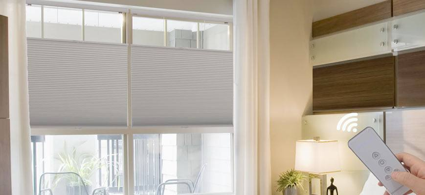 Blackout Motorized Top Down Cellular Shades
