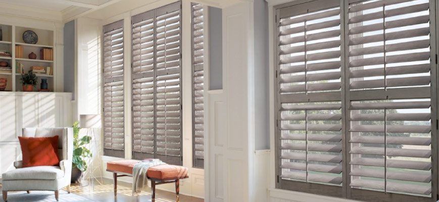 Wooden Shutters for Large Windows