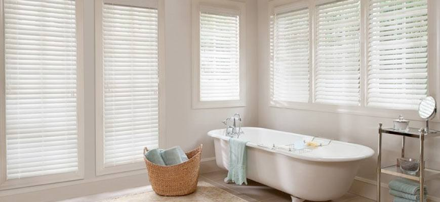 Attirant Faux Wood Blinds For Bathroom