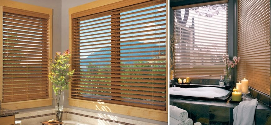 Brown Shutters for Large Windows