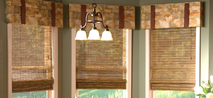 Natural Blinds with Drapery