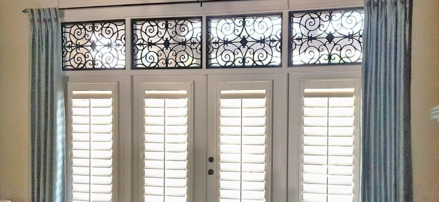 Layering Plantation Shutters with Curtains