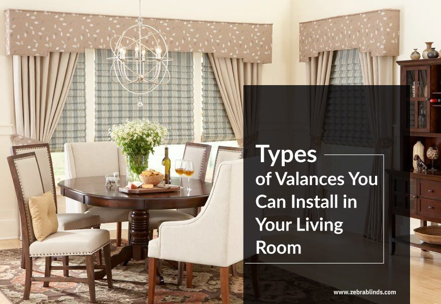 Living Room Valance Ideas For Your Home, Living Room Curtains With Valance