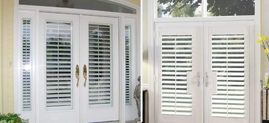 Plantation Shutters For French Doors In