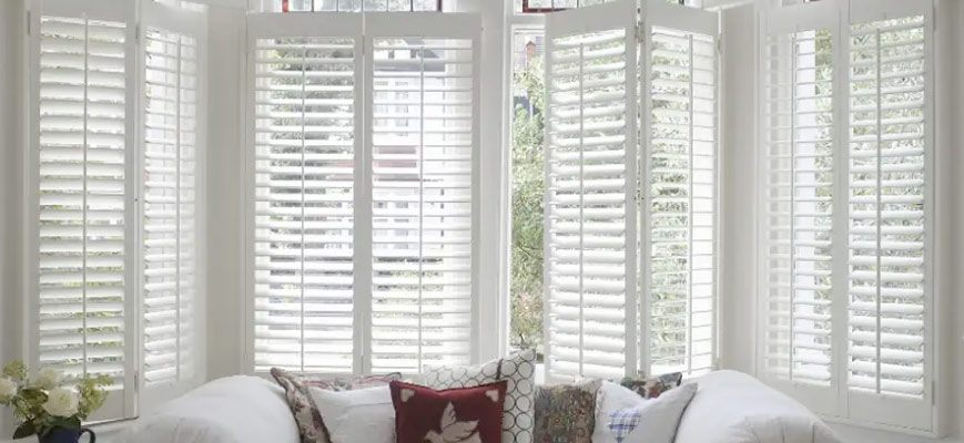 White Shutters for Large Windows