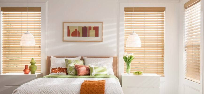 Faux Wood Blinds for Bedroom