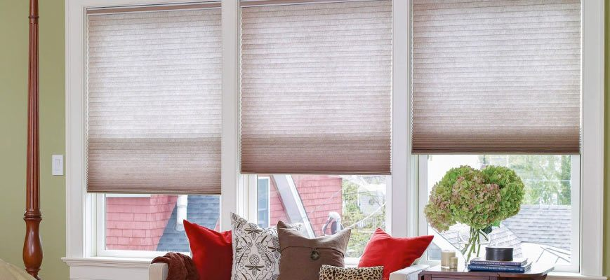 Honeycomb Shades for Wide Windows
