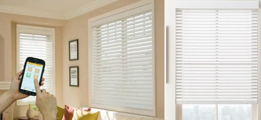 2 Inch Faux Wood Smart Privacy Blinds