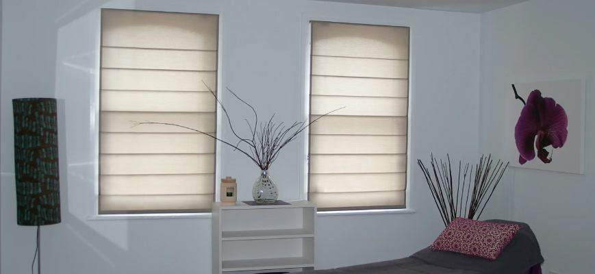 Light Filtering Fabric Roman Shades