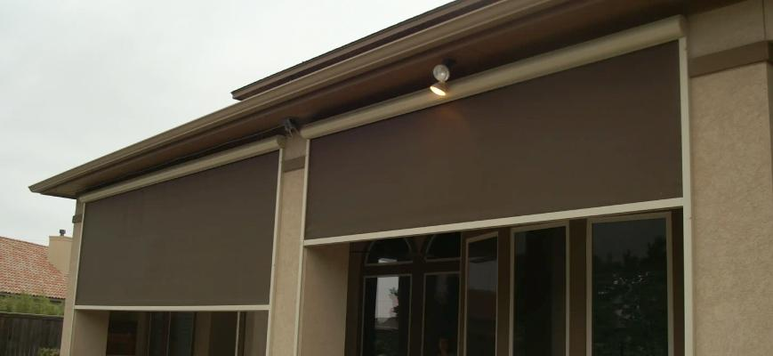 Outdoor Motorized Blinds and Shades