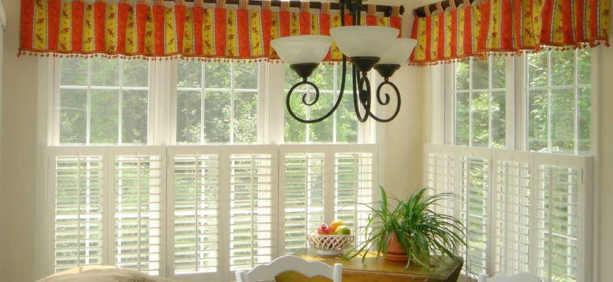 Valances with Plantation Shutters