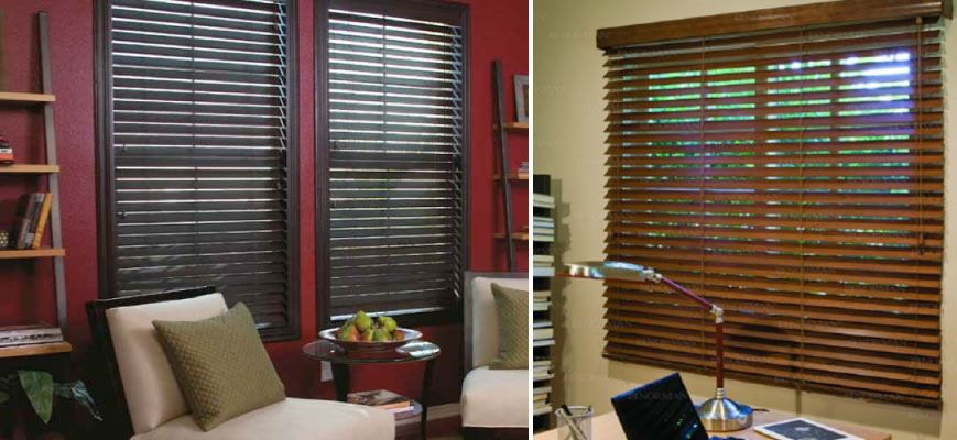 Smart Privacy Wood Blinds