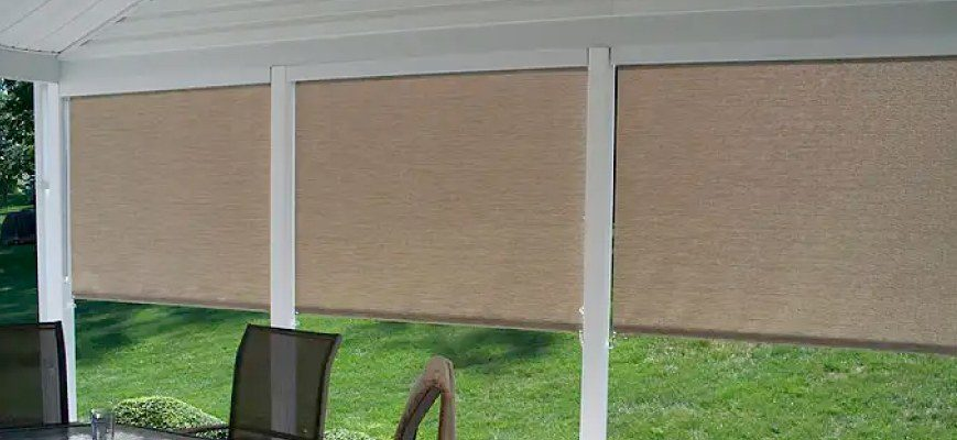 Roll-Up Blinds for Porch