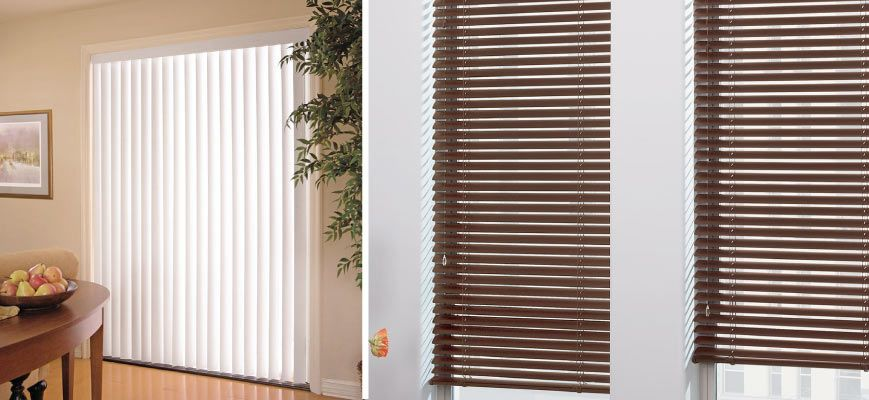 Vertical Blinds And Horizontal Blinds