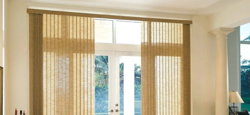 Vertical Blinds with Sheer Fabric