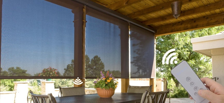 Motorized Exterior Solar Shades