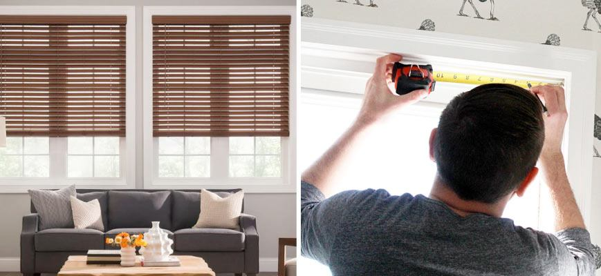 Measure Cordless Faux Wood Blinds For Inside Mounting